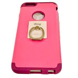 EUC Pink & Purple Phone Case, WITH iRing attached!